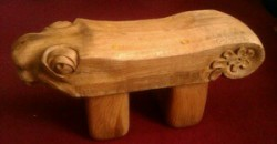 Tiny Animal Bench for a Boy - Green French Oak
